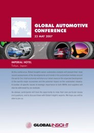 GLOBAL AUTOMOTIVE CONFERENCE - IHS Global Insight