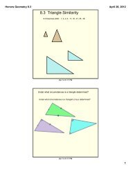 8.3 Triangle Similarity