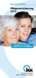 Pflegeversicherung 2013 - IKK Nord