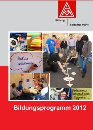 Bildungsprogramm 2012 - IG Metall Salzgitter-Peine