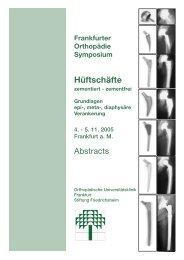 Abstract Referenten 2005 (Page 1) - Implantat - Atlas Zementfreie ...