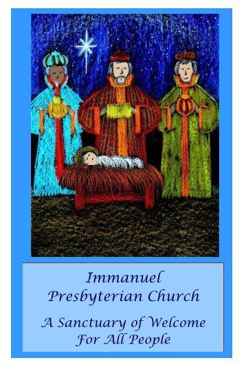 Bulletin1.6.13Pub2007 (Read-Only) - Immanuel Presbyterian Church
