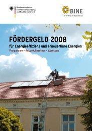 Fördergeld 2008 für Energieeffizienz und erneuerbare Energien