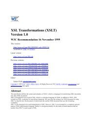 XSL Transformations (XSLT), Version 1.0 - instructional media + magic