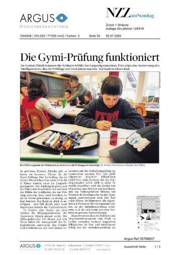 Die Gymi-Prüfung funktioniert - Impuls Mittelschule