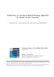 AntHocNet: an Ant-Based Hybrid Routing Algorithm for ... - CiteSeerX