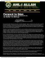 AHL-i ALLAH: Forward To Eden - Shri Adi Shakti: The Kingdom Of God