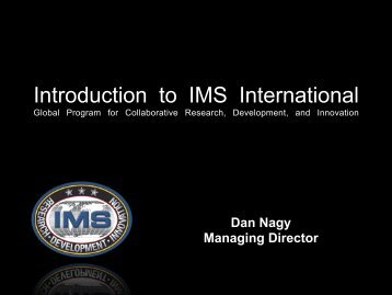 IMS Overview - Intelligent Manufacturing Systems