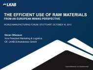 the efficient use of raw materials from an european mining perspective