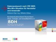 Win-Win-Situation für Hersteller und Anwender - ISH 2013 - BDH