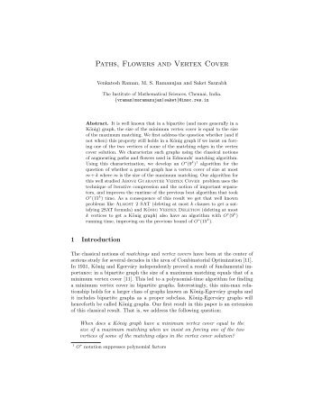Paths, Flowers and Vertex Cover - ResearchGate