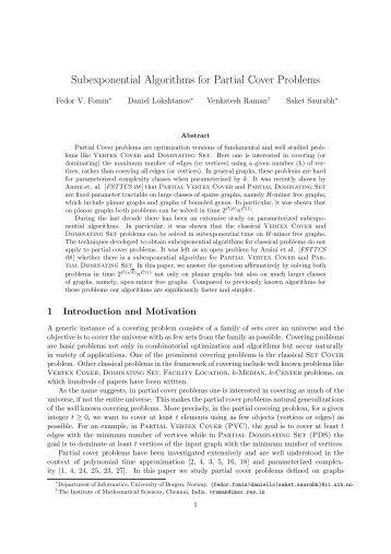 Subexponential Algorithms for Partial Cover Problems