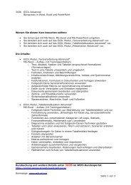 3436 ECDL Advanced Büropraxis in Word, Excel und PowerPoint ...