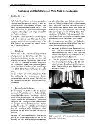 Auslegung und Gestaltung von Welle-Nabe-Verbindungen
