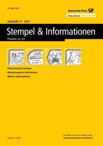 Ausgabe 11 - 2012 | 25. Mai 2012 - Deutsche Post - Philatelie