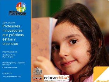 Para conocer el estudio en profundidad ... - RPI - Educarchile