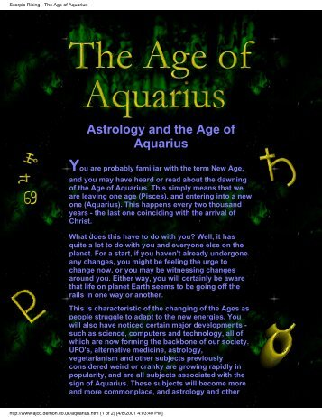 an overview of the age of aquarius in astrology