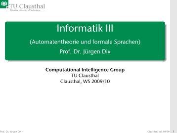Informatik III (Automatentheorie und formale Sprachen)