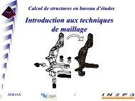 ISMANS Calcul de structures en bureau d'études - IN2P3