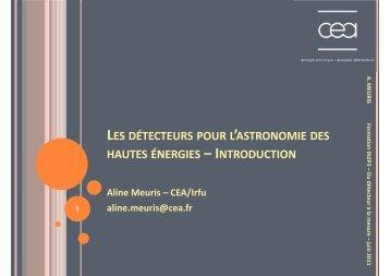 les détecteurs pour l'astronomie des hautes énergies - IN2P3