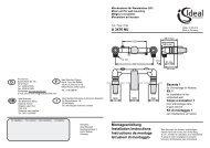 Montageanleitung Installation Instructions ... - Ideal Standard