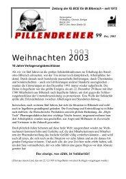 Pillendreher Ausgabe 99 Dez 2003 - IGBCE-Biberach