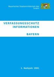 VERFASSUNGSSCHUTZ INFORMATIONEN BAYERN