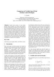 Comparison of Variable Speed Wind Turbine Control - Icrepq.com