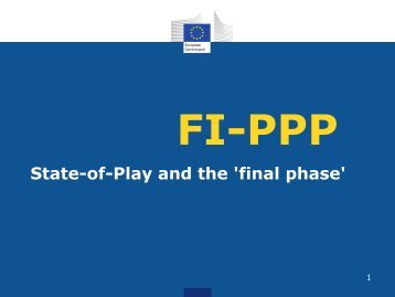 FI-PPP State-of-Play and the 'final phase' - Ideal-ist