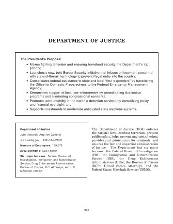 Department of Justice - GlobalSecurity.org