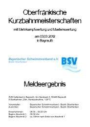 Bayerischer Schwimmverband e.V. - IFL-Hof Schwimmen
