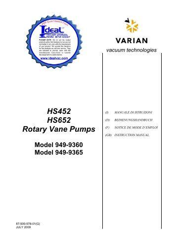 Edwards, RV Instruction Manual, Rotary Vane Vacuum Pumps