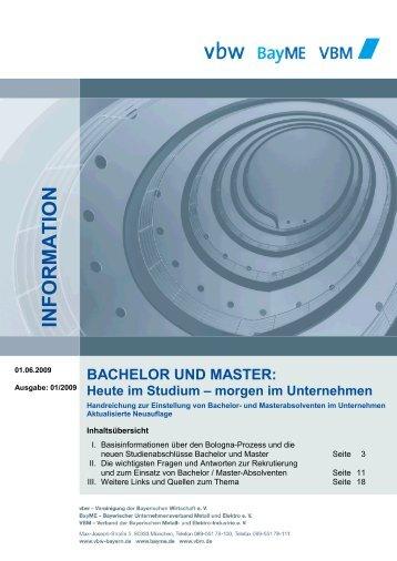 BACHELOR UND MASTER: Heute im Studium - Vorsprung durch ...