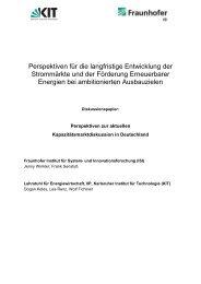 Perspektiven für die langfristige Entwicklung der ... - IIP - KIT