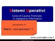Shell scripting - lucidi - Dipartimento di Ingegneria dell'Informazione