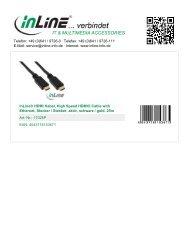 InLine HDMI Kabel 25m mit Ethernet St/St - Bauers