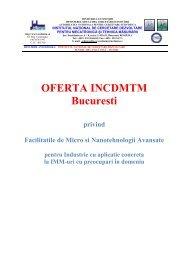 Oferta INCDMTM