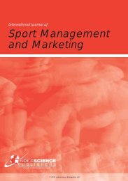 International Journal Of Sport Management And Marketing