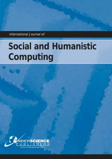 Social and Humanistic Computing - Inderscience Publishers
