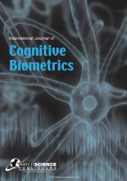 International Journal of Cognitive Biometrics - Inderscience Publishers