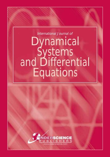 International Journal of Dynamical Systems and Differential Equations