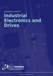 Industrial Electronics and Drives - Inderscience Publishers