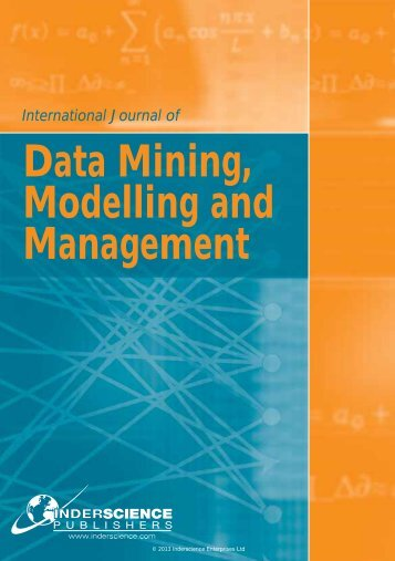 Data Mining, Modelling and Management - Inderscience Publishers