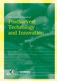 Postharvest Technology and Innovation - Inderscience Publishers