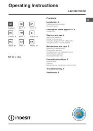 Operating Instructions - Indesit