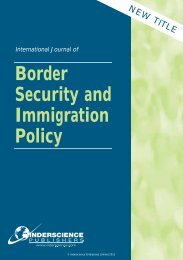 Border Security and Immigration Policy - Inderscience Publishers