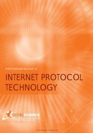 INTERNET PROTOCOL TECHNOLOGY - Inderscience Publishers
