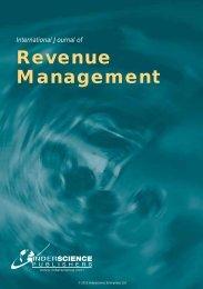 International Journal of Revenue Management - Inderscience ...