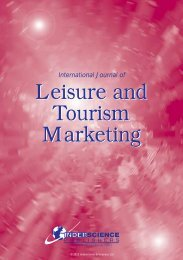 Leisure and Tourism Marketing Leisure and Tourism Marketing