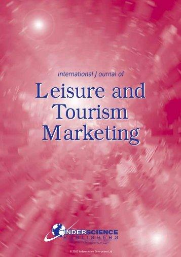 Leisure and Tourism Marketing Leisure and Tourism Marketing
